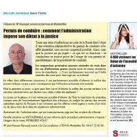PERMIS DE CONDUIRE : COMMENT L'ADMINISTRATION IMPOSE SON DIKTAT A LA JUSTICE